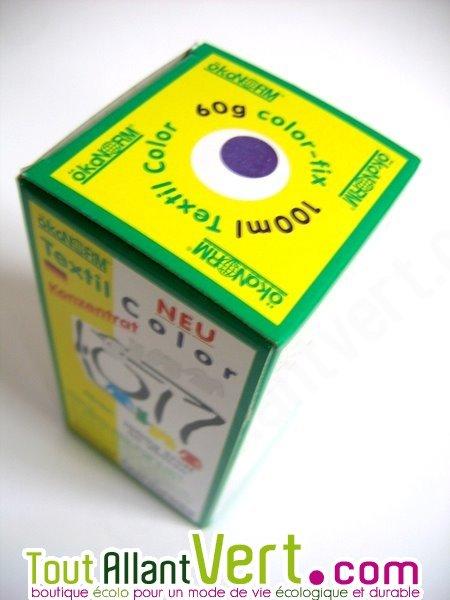 Teinture cologique pour textiles coloration violet r actif ko tex achat v - Teinture textile bio ...