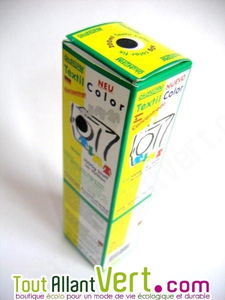 Teinture cologique pour textiles coloration noire r actif ko tex achat ve - Teinture textile bio ...
