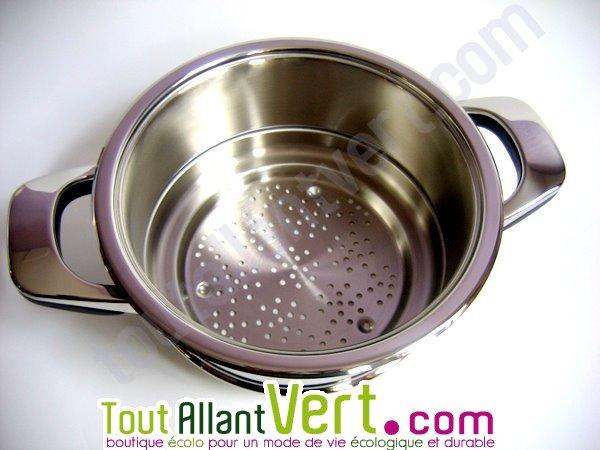 Abe panier vapeur ou passoire pour cuire la vapeur for Ustensiles de cuisine en inox 18 10