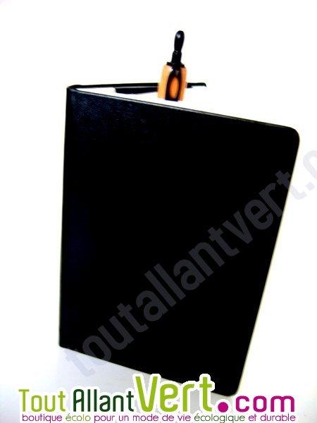 coffret carnet de voyage recycl noir en cuir achat vente cologique acheter sur. Black Bedroom Furniture Sets. Home Design Ideas