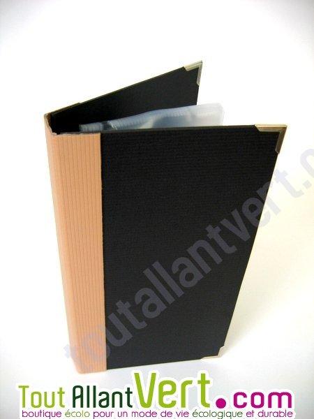 classeur carte de visite recycl rechargeable 10 pochettes achat vente cologique acheter. Black Bedroom Furniture Sets. Home Design Ideas