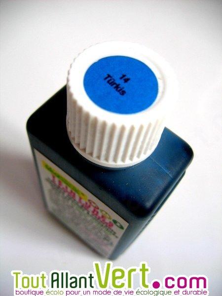 Teinture cologique pour textiles coloration turquoise t14 achat vente colog - Teinture textile bio ...