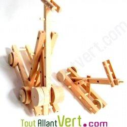 Catapulte en bois naturel � monter Equilibrist 20x15x6cm