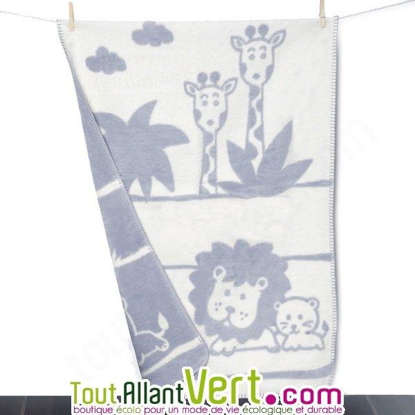 couverture bébé jungle Couverture enfant en coton biologique Velours 75x100cm achat vente  couverture bébé jungle