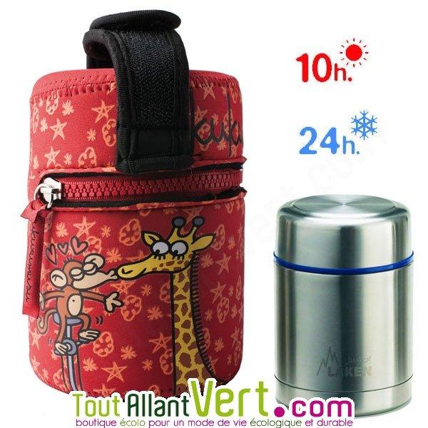 Lunch box isotherme inox avec housse n opr ne rouge 0 5l achat vente cologique acheter sur - Sac lunch box isotherme ...