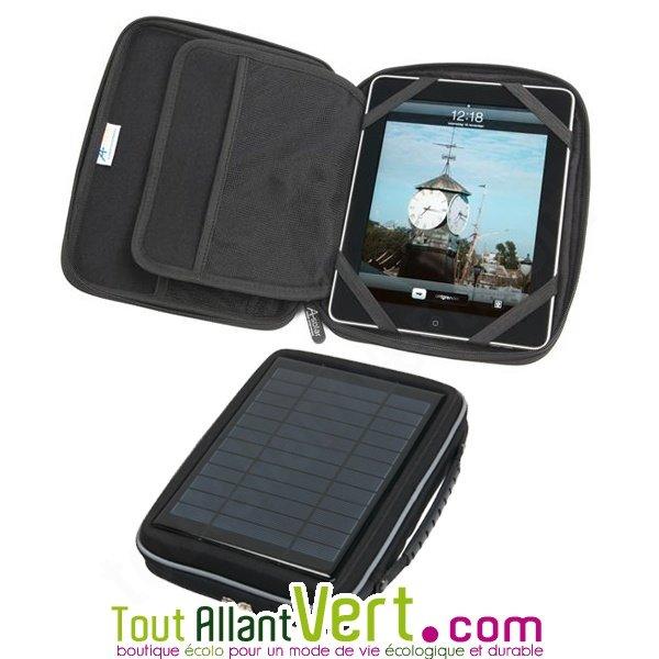 chargeur solaire pour tablette ipad samsung et sa sacoche. Black Bedroom Furniture Sets. Home Design Ideas