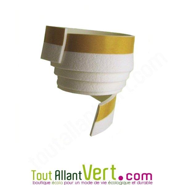 adh sif blanc pour viter les courants d air en bas de porte 4 cm x 1 m tre achat vente. Black Bedroom Furniture Sets. Home Design Ideas