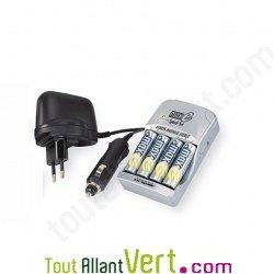 kit maxe chargeur de piles piles rechargeables nimh maxe 2xlr3 4xlr6 achat vente cologique. Black Bedroom Furniture Sets. Home Design Ideas