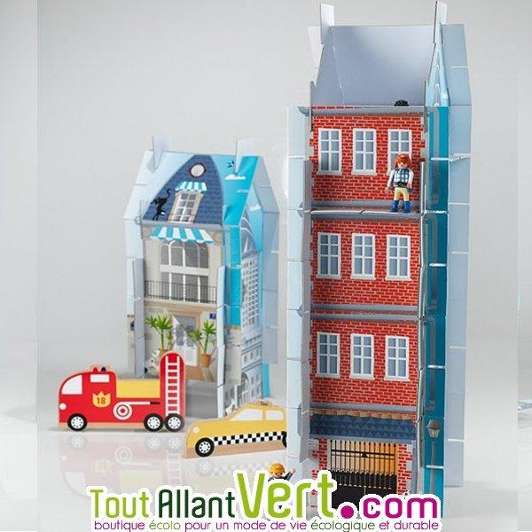 Jeu Construction 3 En 1 PlateforM, Maisons 3D En Carton Recyclé, 5 Ans+