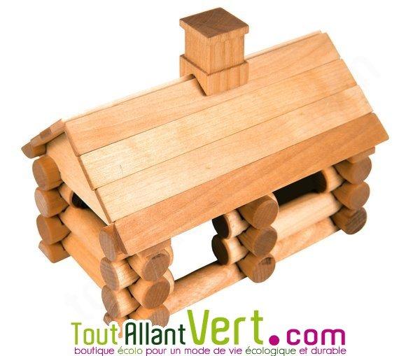 Kit de construction chalet en bois fsc 35 pi ces varis achat vente cologique acheter sur for Construction bois 35